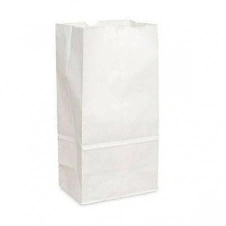 Papiertüten ohne Henkel Kraft-weiss 12+8x24cm (25 Stück)