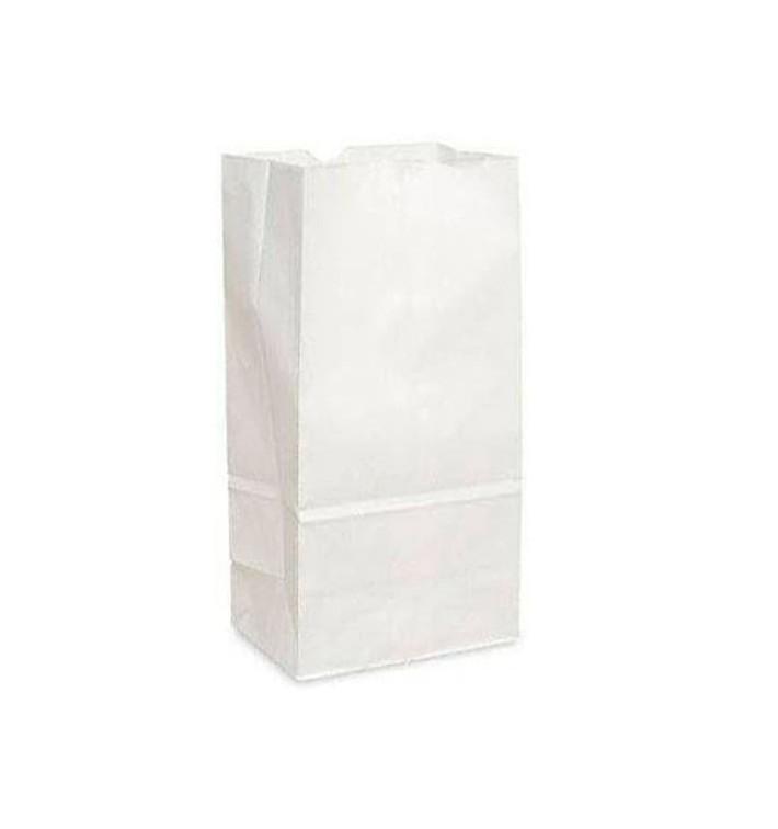Papiertüten ohne Henkel Kraft-weiss 15+9x28cm