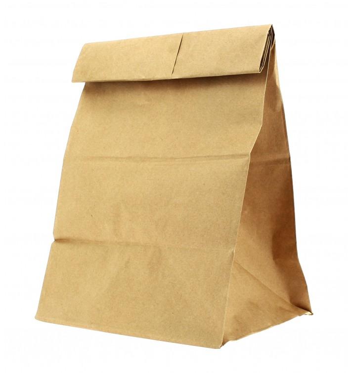 Papiertüten ohne Henkel Kraft braun 22+12x30cm