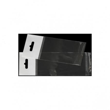 Flachbeutel BOPP Falte Klebstoff mit Euro-Loch 12x18cm G160 (1000 Stück)