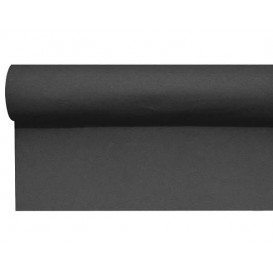 Tischläufer Airlaid schwarz 0,4x48m Vorgeschnitten (1 Stück)