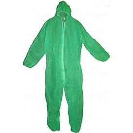 Schutzanzug PP mit Kapuze Grösse L Grün (50 Stück)