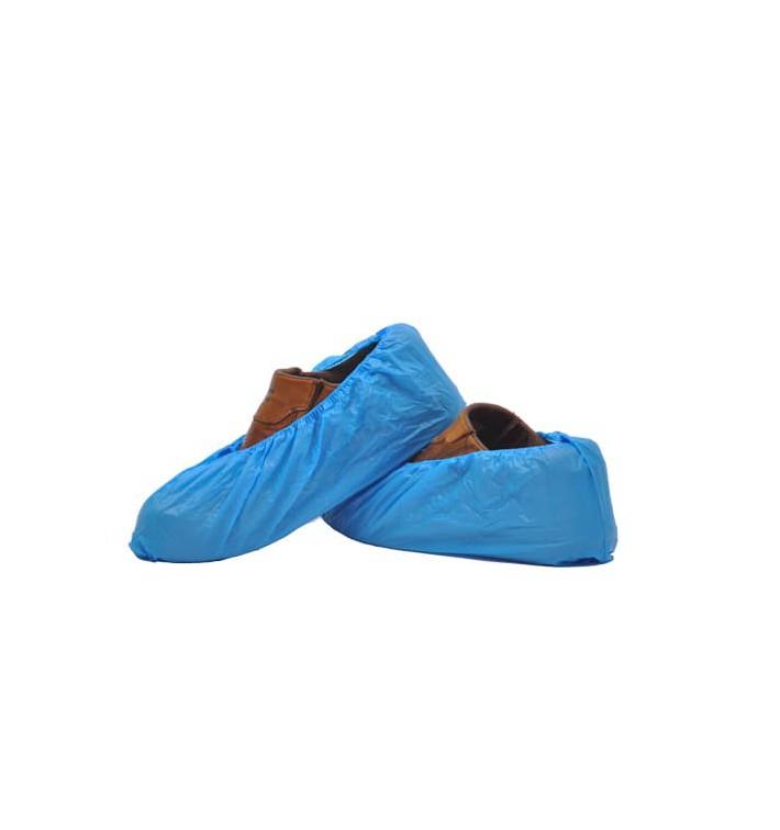 Überschuhe Polyetylen 20My Blau (100 Stück)
