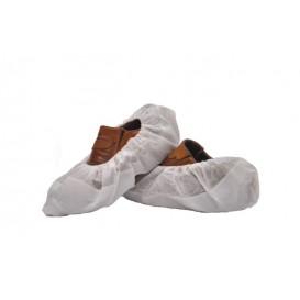 Überschuhe Polypropylen weiß mit Rutschhemmender Sohle weiß (50 Stück)