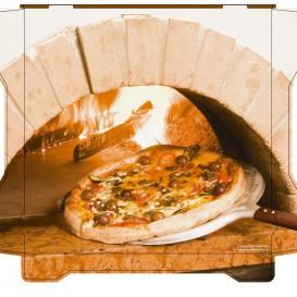 Pizzakartons Al Bassanello Forno 26x26x4,2cm (100 Stück)