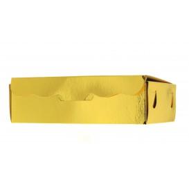 Box für Süßwaren gold 14x8x3,5cm (50 Stück)