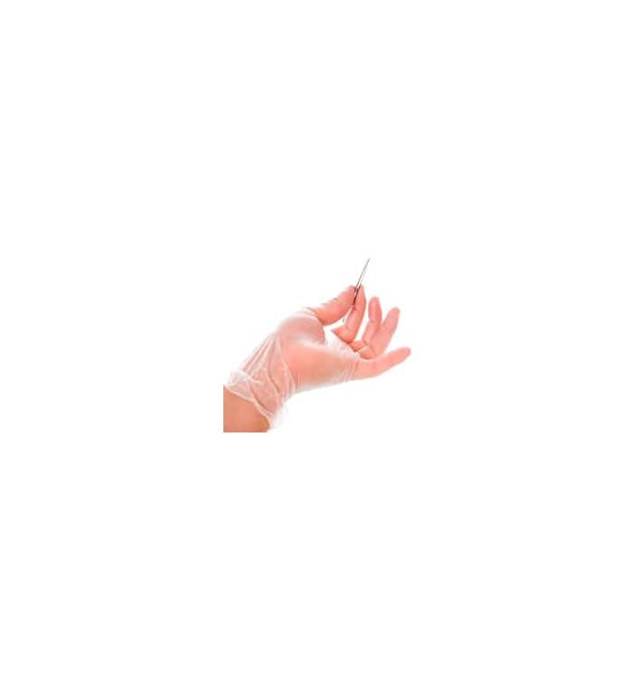 Vinyl Handschuhe gepudert Transp. Größe S (100 Stück)