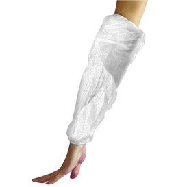 Schutzärmel Polyetylen 18x44cm 20my weiß (100 Stück)