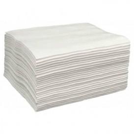 Einmal-Badetuch Spunlace weiß 40x80cm (25 Stück)