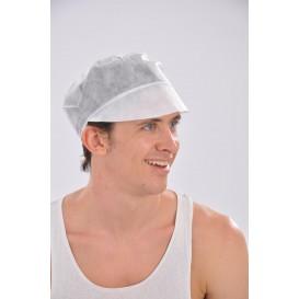 Schildmütze Polypropylen mit Haarschutz weiß (100 Stück)