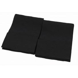 """Spenderservietten Papier """"Miniservis"""" Schwarz 17x17cm (160 Stück)"""