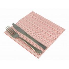 """Papierservietten """"Basic Rot"""" 2-lagig 40x40cm (600 Stück)"""