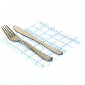 Papierservietten Kariert blau 33x33cm 1-lagig (80 Einh.)