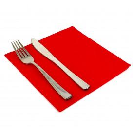 Papierservietten Rot 2L rau 33x33cm (50 Stück)