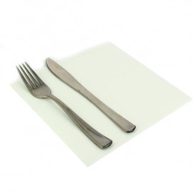 Papierservietten weiß 2L rau 33x33cm (1200 Stück)