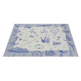 """Tischsets Papier30x40cm """"Seemann"""" Blau 50g (500 Stück)"""