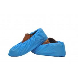 Überschuhe Polyetylen CPE 40My Blau (100 Stück)