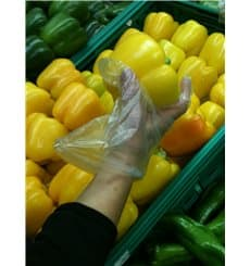 Handschuhe aus Polyethylen Grad Transparent (100 Paare)