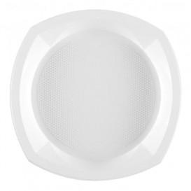 Plastikteller PS flach Weiß 230x230mm 1C (100 Stück)