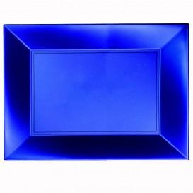 Plastiktablett Blau Nice Pearl PP 345x230mm (30 Stück)