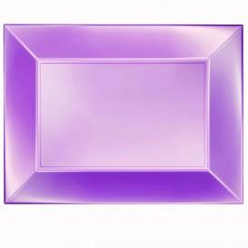 Plastiktablett Violett Nice Pearl PP 345x230mm (6 Stück)