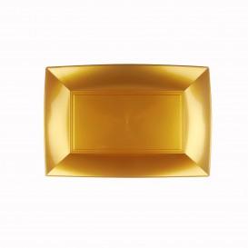 Plastiktablett Gold Nice PP 280x190mm (12 Stück)