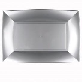 Plastiktablett Grau Nice PP 345x230mm (30 Stück)