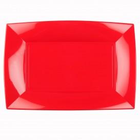 Plastiktablett Rot Nice PP 345x230mm (6 Stück)