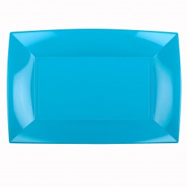 Plastiktablett Türkis Nice PP 345x230mm (60 Stück)