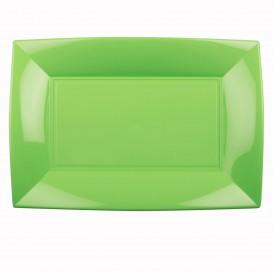 Plastiktablett Grasgrün Nice PP 345x230mm (6 Stück)