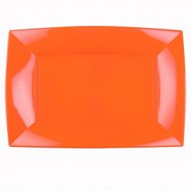 Plastiktablett Orange Nice PP 345x230mm (6 Stück)