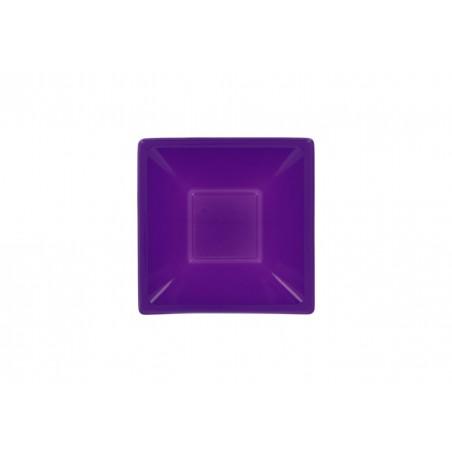 Viereckige Plastikschale Flieder 120x120x40mm (720 Stück)