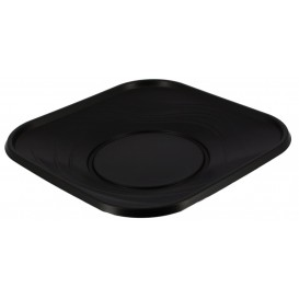 "Plastikteller PP ""X-Table"" Platz flach Schwarz 230mm (120 Stück)"