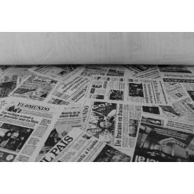 """Papiertischdecke Rolle """"Zeitung"""" Weiss 1,2x100m 37g (6 Stück)"""