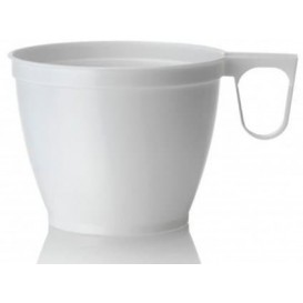 Plastiktasse Weiß PS 180ml (50 Stück)
