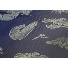 """Papiertischdecke  1x1m Blau """"Meeresfrüchte"""" 37g (400 Stück)"""