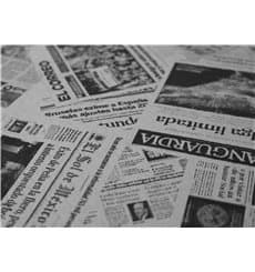 """Papiertischdecke 1x1m """"Zeitung"""" 37g (400 Stück)"""