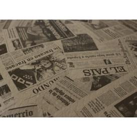 """Papiertischdecke 1x1m """"Zeitung"""" Kraft 37g (400 Stück)"""