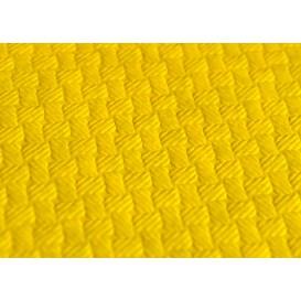 Papiertischdecke geschnitten Gelb 1x1 Meter 40g (400 Stück)