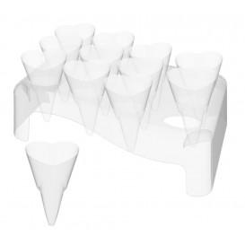 Plastikkegeln Love 50ml mit Ständer 180x260mm (20 Sets)