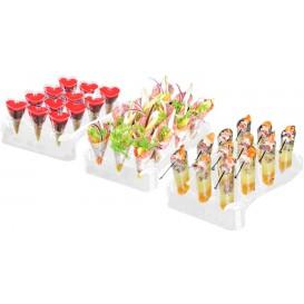 Plastikkegeln Slice 55ml mit Ständer 180x260mm (5 Sets)