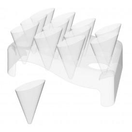 Plastikkegeln Slice 55ml mit Ständer 180x260mm (20 Sets)