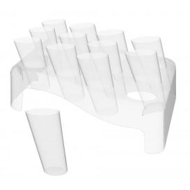 Plastikkegeln Clear 75ml mit Ständer 180x260mm (5 Sets)