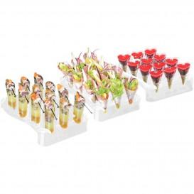 Plastikkegeln Clear 75ml mit Ständer 180x260mm (20 Sets)