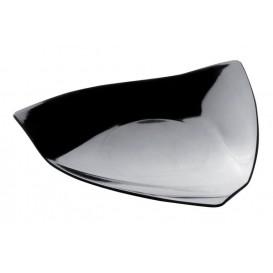 """Plastikteller """"Vela"""" Schwarz 8,5x8,5 cm (50 Stück)"""