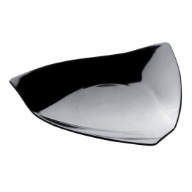 """Plastikteller """"Vela"""" Schwarz 8,5x8,5 cm (500 Stück)"""