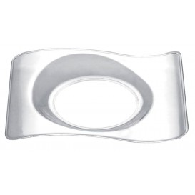 "Plastikteller ""Forma"" Transparent 8,0x6,6 cm (50 Stück)"