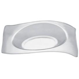 """Plastikteller """"Flat"""" Transparent 8x6,6 cm (50 Stück)"""