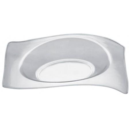 """Plastikteller """"Flat"""" Transparent 8x6,6 cm (500 Stück)"""