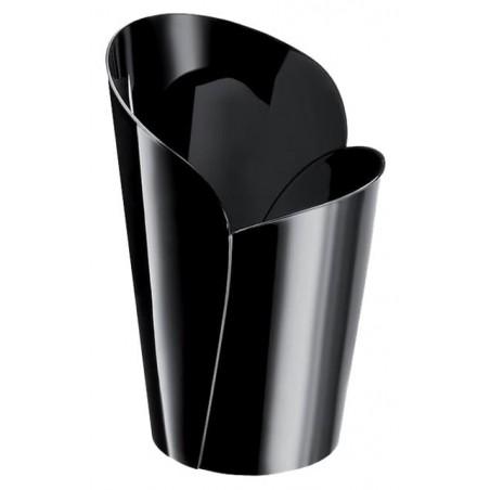 "Plastikbecher ""Blossom"" Schwarz 90ml (15 Stück)"
